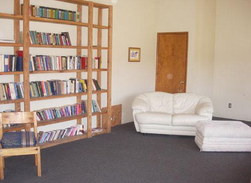 The quiet room is a great place to relax with a book while the kids are off riding horses.